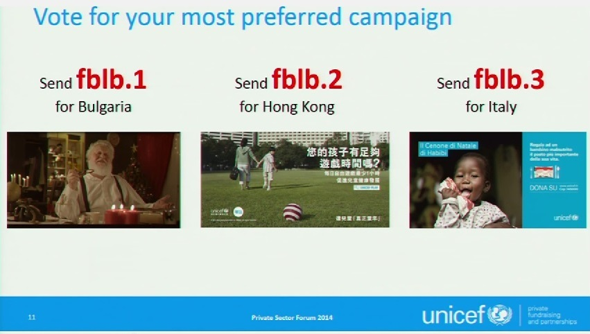 2014 - Right to Play - Vote for your most preferred campaign